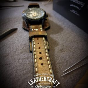 Leder Uhrenarmband Herren braun vintage