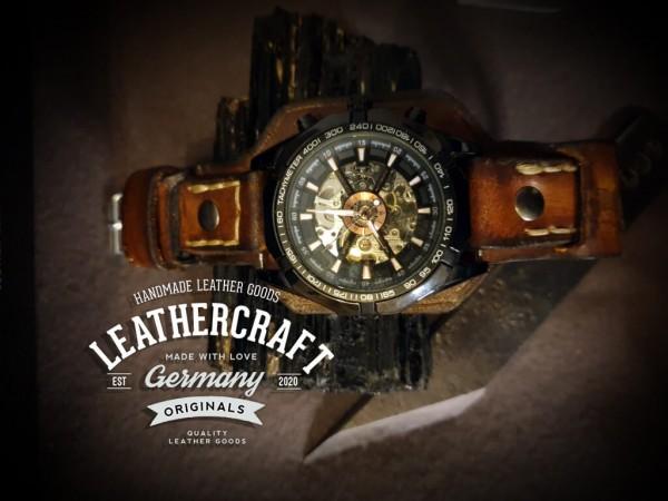 handgertigtes Leder Uhrenarmband