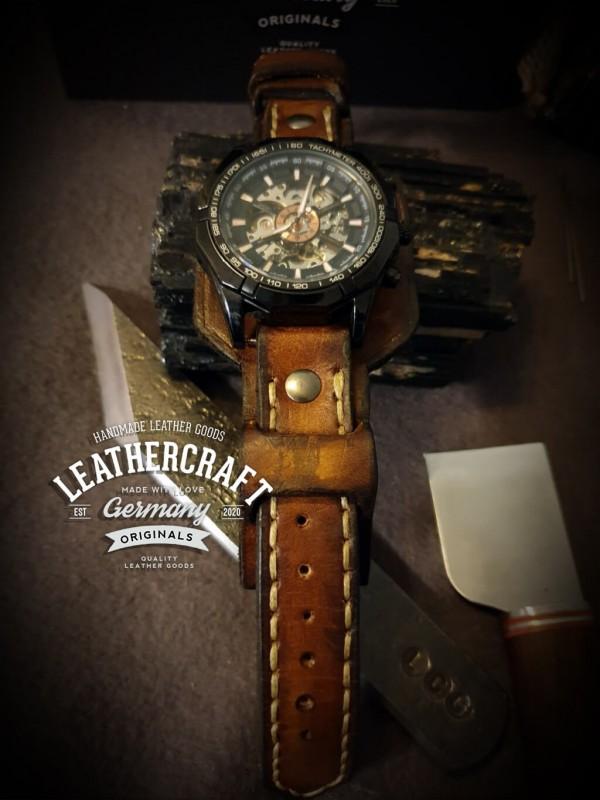 Uhrarmband Leder Herren