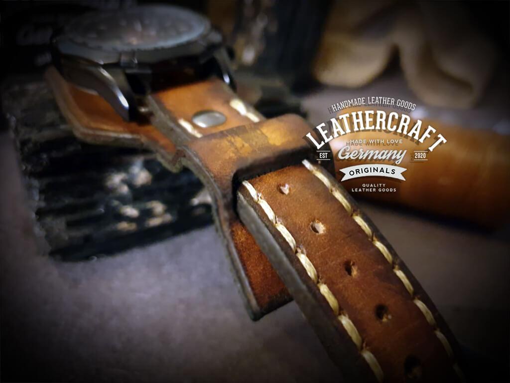 Uhrenarmbänder Leder handgefertigt
