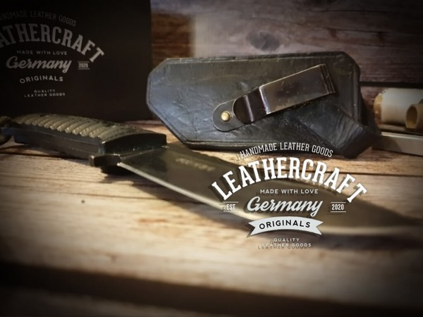handgefertigte Fox-Knife Messerscheide