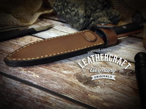 handmade Messerscheide für selbstgemachtes Messer