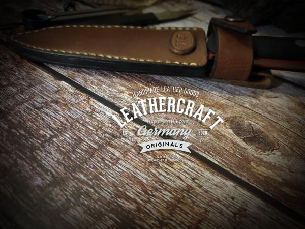 handmade Messerhülle für selbstgemachtes Messer