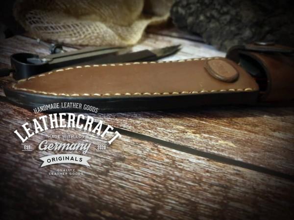 handmade Messerhülle für selbstgebautes Messer