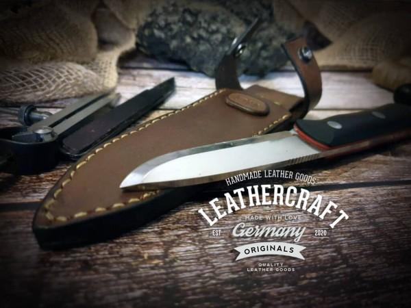 handgemachte Messerscheide für selbstgebautes Messer