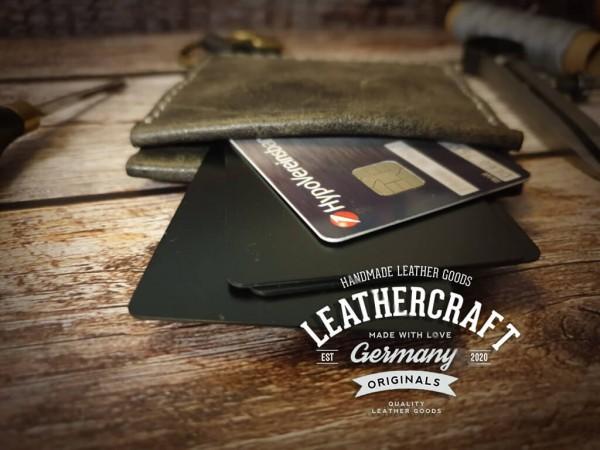 Kreditkartenetui Leder Banknotenfach vintage