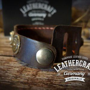 Armband aus Leder braun individualisierbar