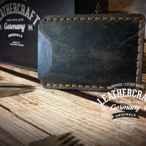 Kreditkartenetui vintage grau braun individualisierbar