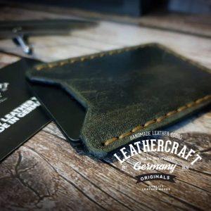Kreditkartenetui vintage grau braun