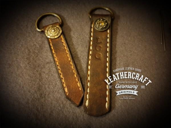 Leder Schlüsselanhänger mit Namen