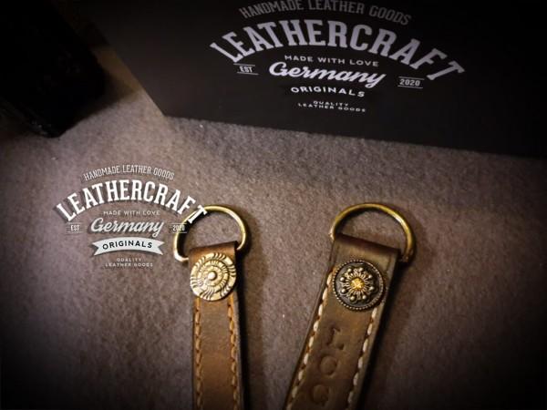 Leder Schlüsselanhänger personalisiert