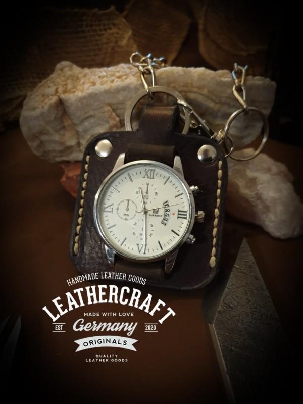 Taschenuhr mit Leder