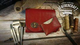 Damn Clutch Rot Handtasche Kroko