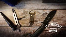 Vintage Leder Jäger Schlüsselanhänger mit Bock