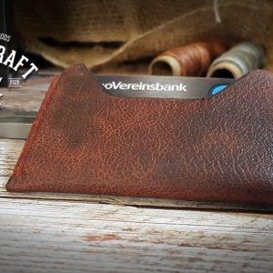 Kreditkartenetui aus Leder