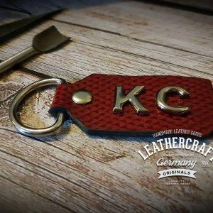 Schlüsselanhänger Leder personalisiert