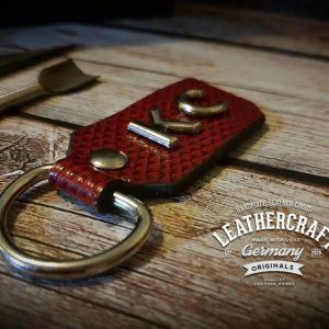 Schlüsselanhänger Leder Damen individuell
