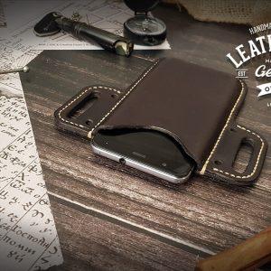Leder Smartphone Cover mit Gürtelschlaufe