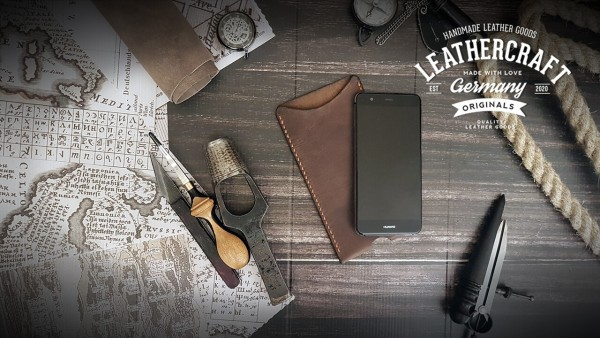 Handyhülle Handy Cover Leder Huawei