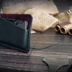 Leder Kreditkartenetui Damen rot