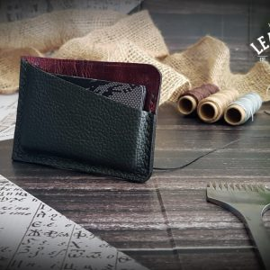 Leder Kreditkartenetui rot