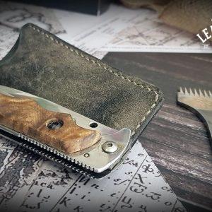 Leder Messeretui Folder