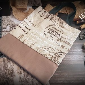 Shopping Bag Canvas & Baumwolle braun