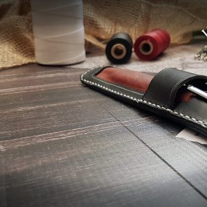 Stifteetui Leder schwarz