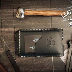 schwarze edle Handyhülle aus Leder