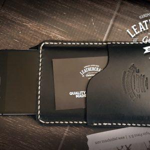 schwarze Handyhülle aus Top Leder