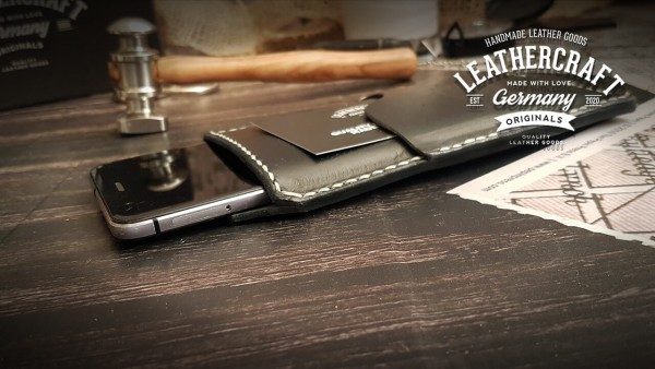 schwarze Handyhülle aus Leder iPhone