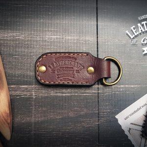 Schlüsselanhänger Leder mit Stempel
