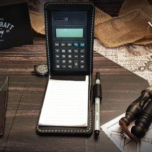Lederetui Taschenrechner schwarz